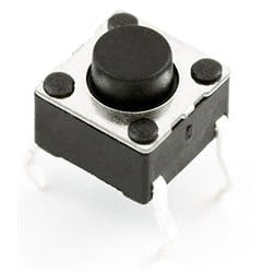 Micro switch 6x6mm; 9,5mm; 6mm